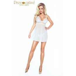 Provocative Candymoon Babydoll White