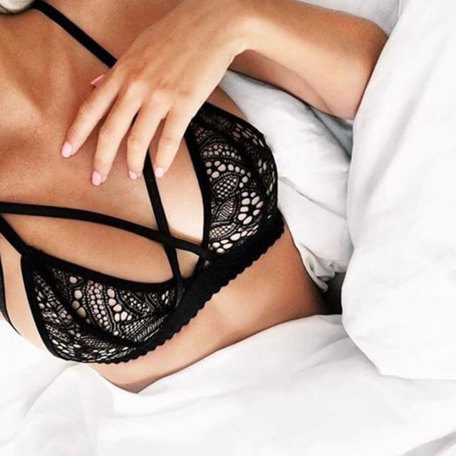Lace Bralette Bra Black