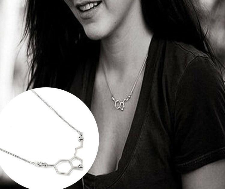 Serotonin Necklace Silver