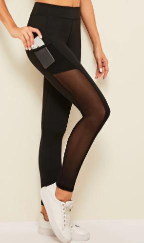 Sporty Black Leggings