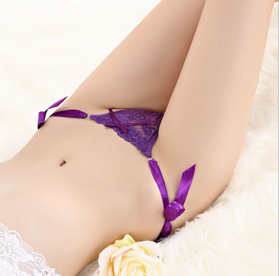 Sexy Lace G-String Purple