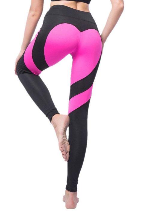 Heart Black/Pink Leggings