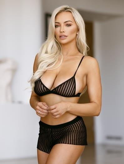 Sexy Striped Mesh Bra and Short Set