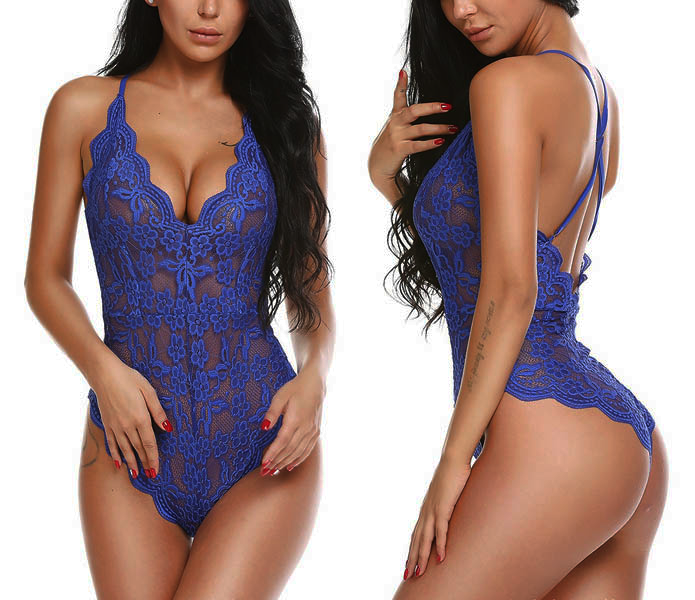 Sexy Lace Teddy Blue