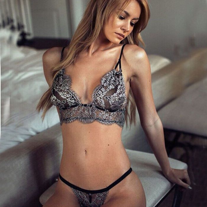 Sexy Embroidery Bra Set