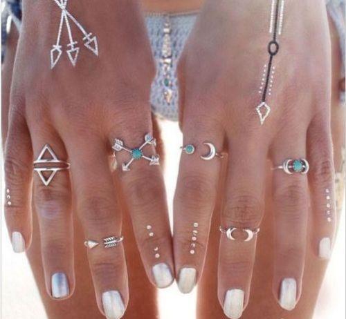 Silver 6pcs Ring
