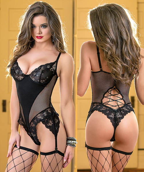 Net Teddy Black