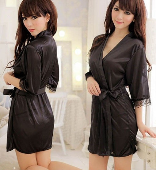 Mesh Robe Black