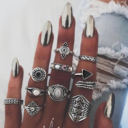 Silver 10pcs Ring