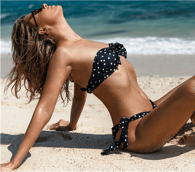Polka Dots Bikini Black