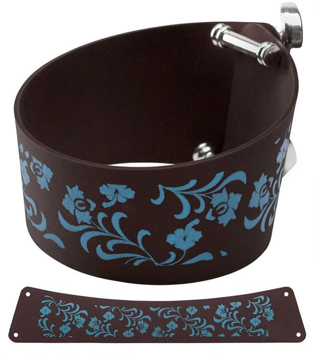 CUFFIES Hippy - Brown with turquoise floral design