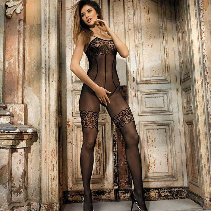 Sexy Floral Lace Bodystocking