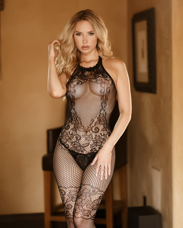 Seductive Cut Out Crotchless Bodystocking