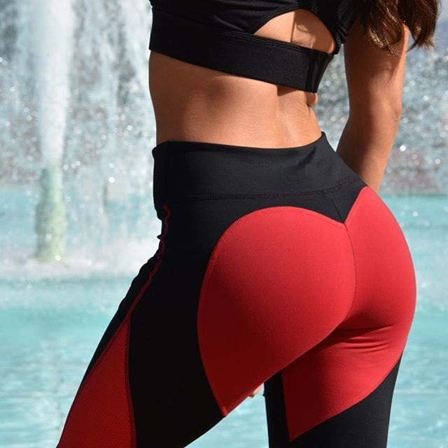 Heart Red/Black Leggings