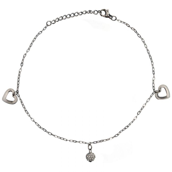 Anklet Chain Hearts and Crystal Ball