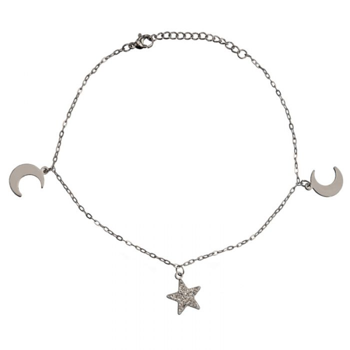 Anklet Chain Moon and Star