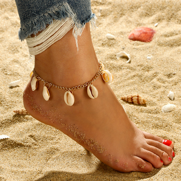 Shell Ankle Bracelet Gold
