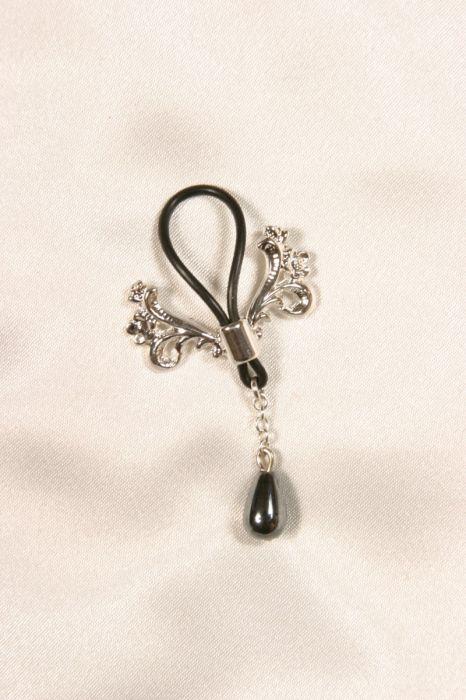 Ecrins seins col Argent 1 perle (la paire)
