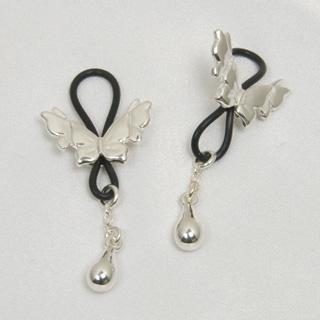 Bijoux Seins Papillons d'Argent