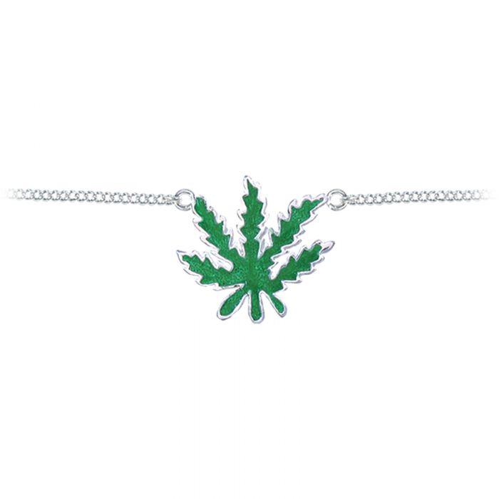 Back Belly Chain Pot Leaf