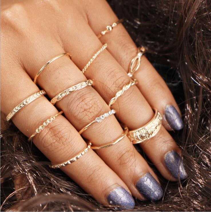 Gold 12pcs Ring