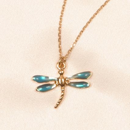 Chevilles libellules Bleu