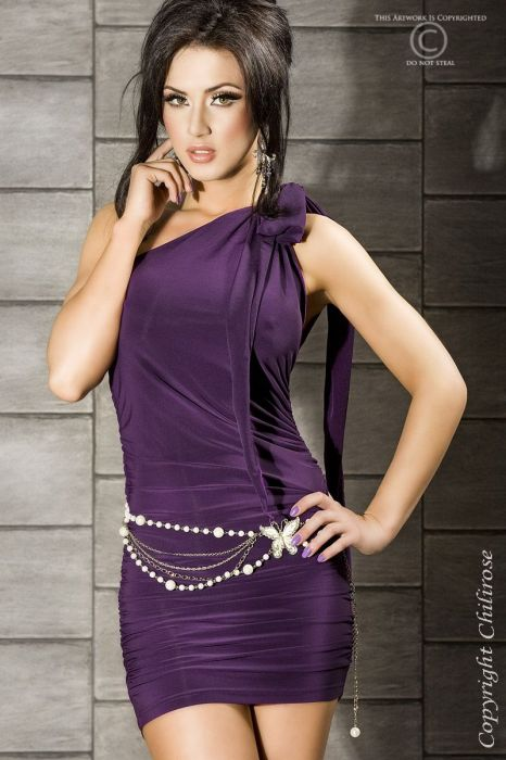 Chilirose Dress dark purple