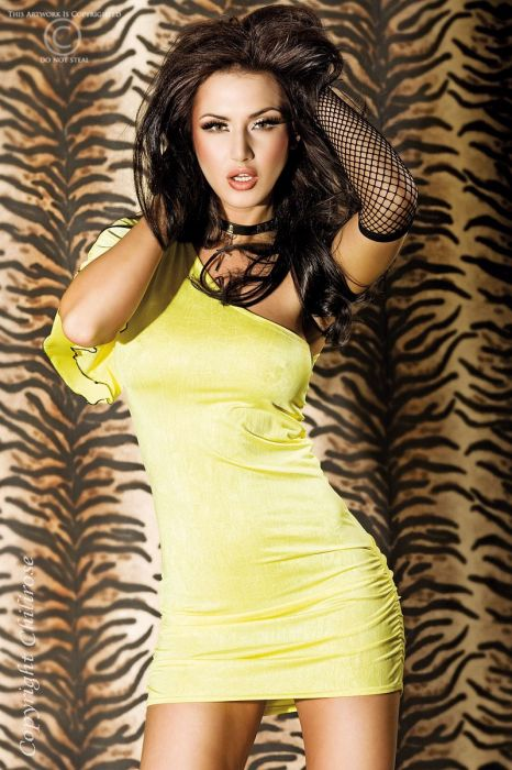 Chilirose Yellow Minidress