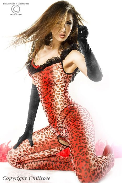 Chilirose Catsuit Red Panther