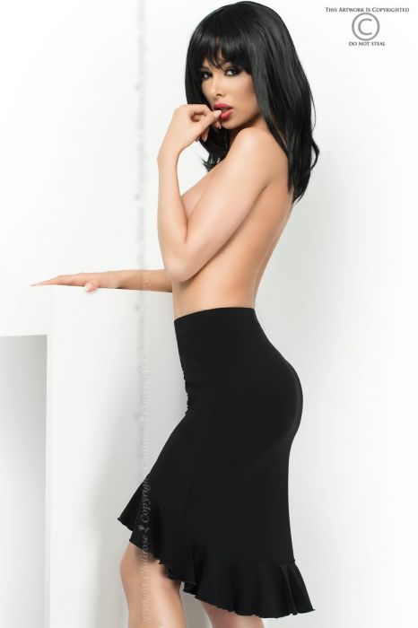 Chilirose Skirt with Flounce