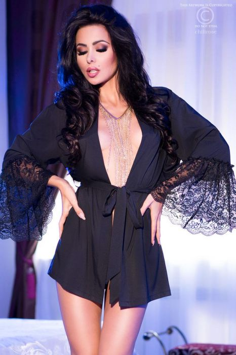 Chilirose Exotic Negligee Black