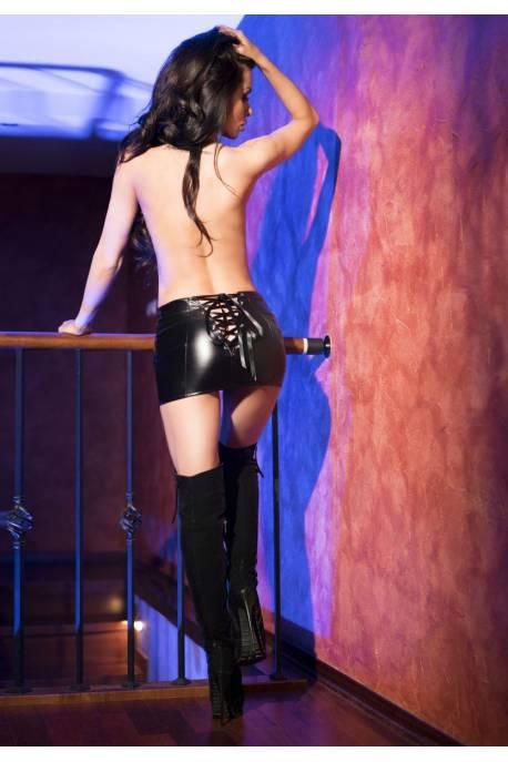 Chilirose Black Leatherlook skirt