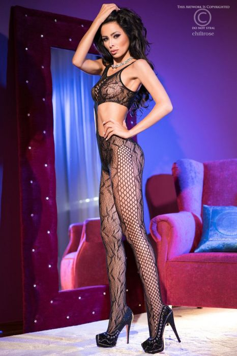 Chilirose Black Bodystocking