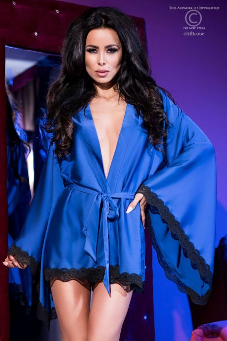 Chilirose Extravagant Robe Blue