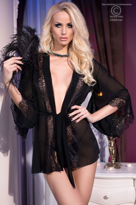 Chilirose Sensual Nightgown Black