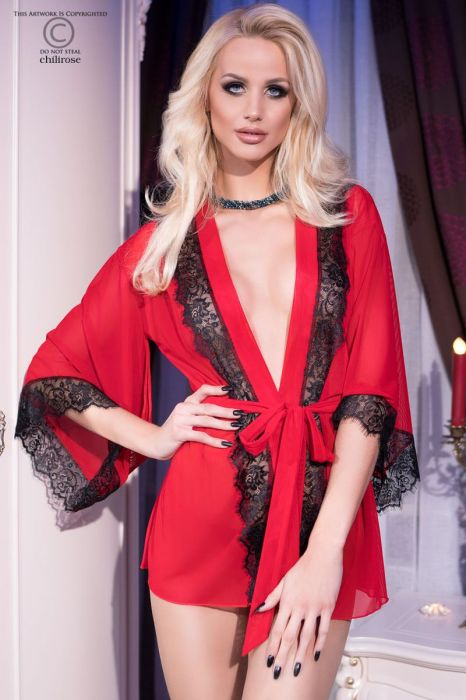 Chilirose Sensual Nightgown Red