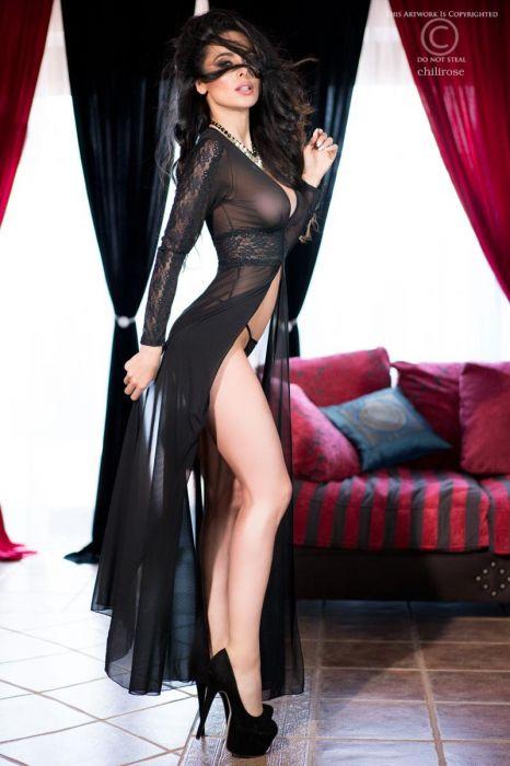 Chilirose Long Sexy Robe