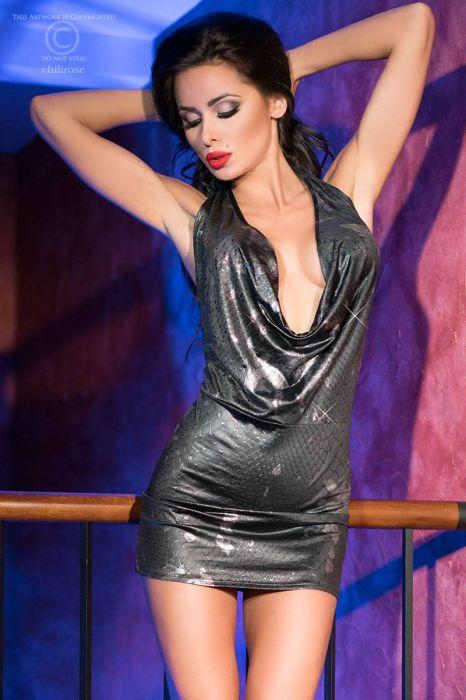Chilirose Sexy Silver Dress