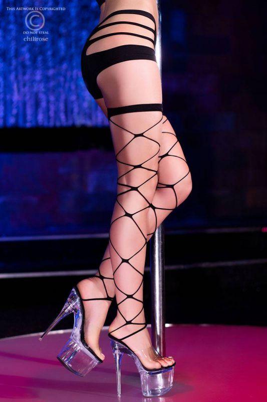 Chilirose Black Stockings