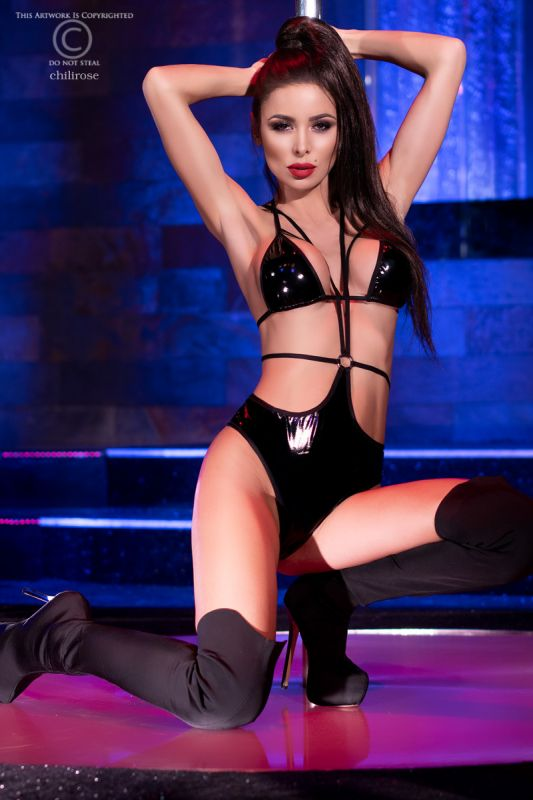 Chilirose Black Latexlook Body