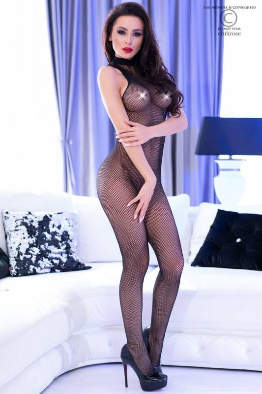 Chilirose Black High Neck Bodystocking