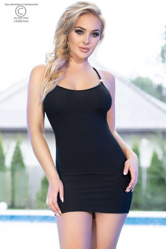 Chilirose Black Mini Dress