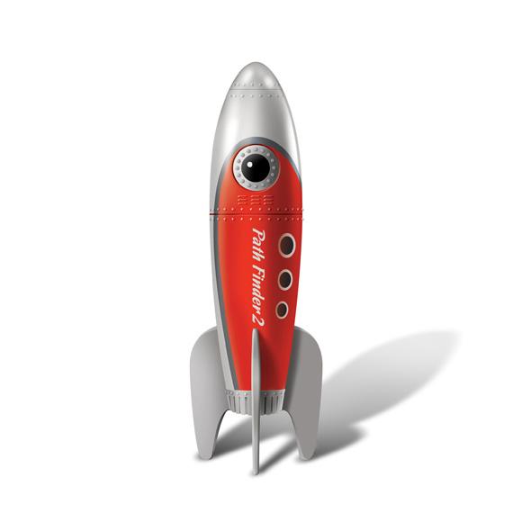 Retro Pocket Rocket Red