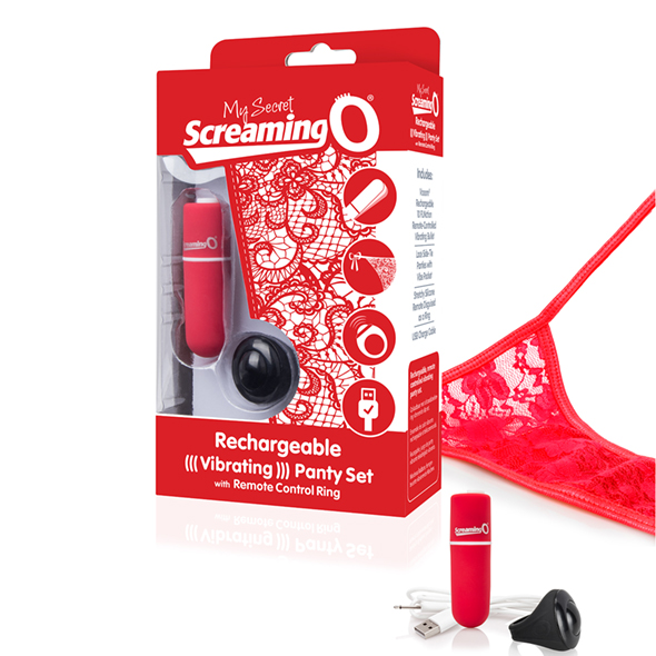 The Screaming O - Charged Remote Control Panty Vibe Red