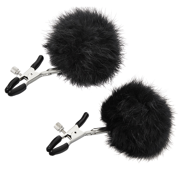Sportsheets - Sincerely Fur Nipple Clips Black