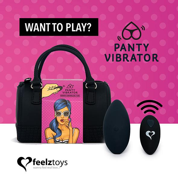 Feelztoys - Panty Vibe Remote Controlled Vibrator Black
