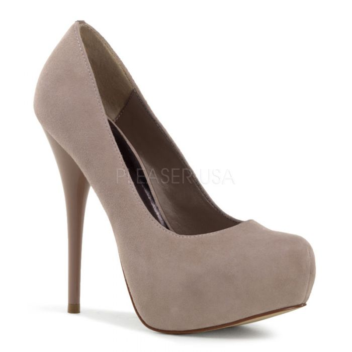 Pleaser Mid-Platform Gorgeous 20 Blush Suede