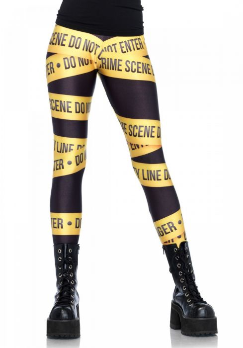 Leg Avenue Crime scene leggings