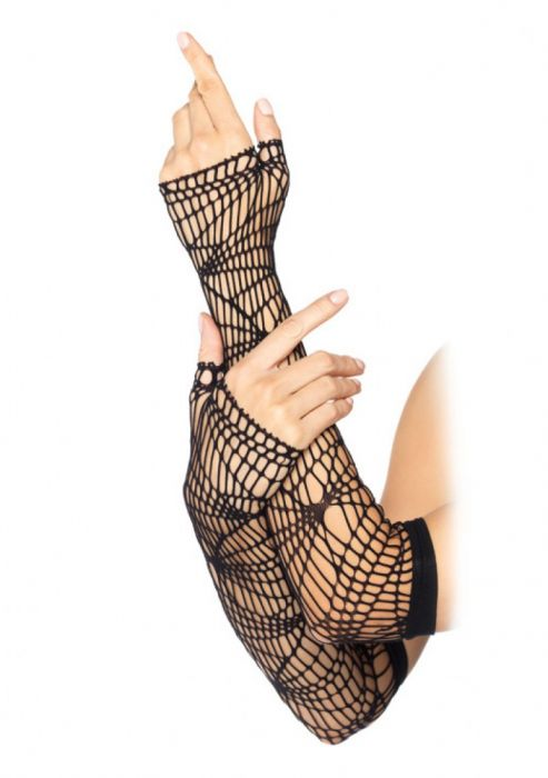 Leg Avenue Distressed Net Arm Warmers