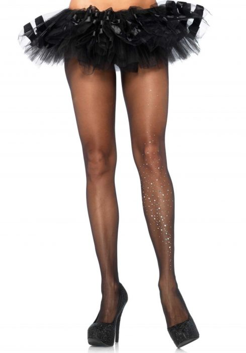 Leg Avenue Pantyhose With Rhinestone